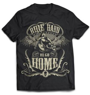 Ride Hard - Black | Tshirt