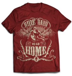 Ride Hard - Maroon | Tshirt