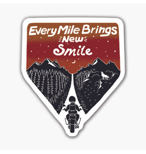 Every Mile Brings New Smile   Sticker