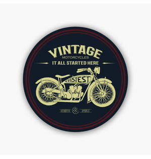 Vintage Motorcycles | Sticker