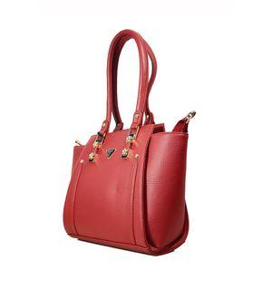 Glamorous Maroon Handbag From Elegance
