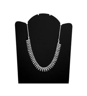 Ethnic Silver Peacock Drop Chain