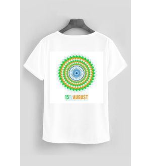 SPORTS T- SHIRT FLAG IN CIRCLE
