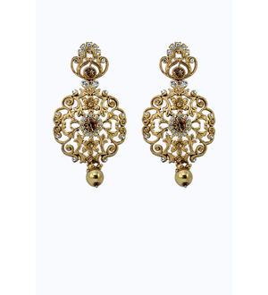 Golden Zinc Formal Danglers And Drop