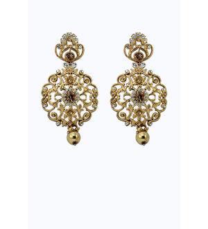 Golden Zinc Formal Danglers And Drop
