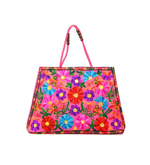 Handicraft Ethnic Embroidered Magenta Handbag