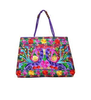 Handicraft Ethnic Embroidered Purple Handbag
