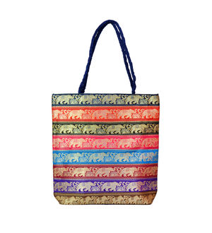 Handicraft Ethnic Printed Patchwork Blue Handbag