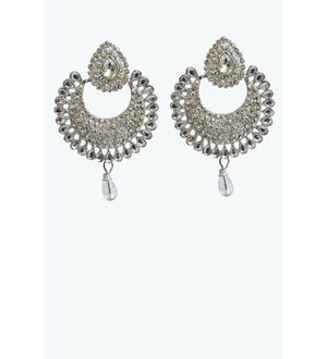Silver Krafted Ethnic Danglers