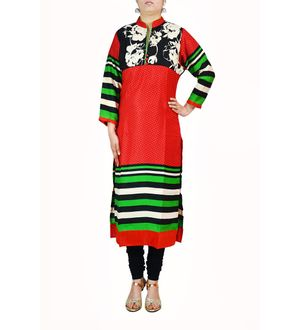 Muilti Color Designer Cotton Kurti