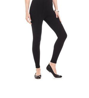 Black Cotton Slim Fit Legging