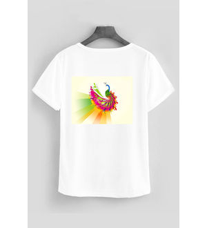 SPORTS T- SHIRT INDIAN PEACOCK