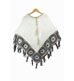 Stylish Warm Woolen Handwoven Poncho