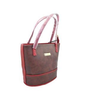 Eleegance Brown Maroon Handbag