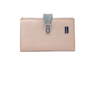 Eleegance Peach Golden Women Wallet