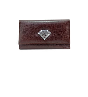 Eleegance Pure Leather Brown Clutch