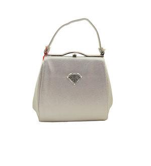 Eleegance Silver Color Handbag