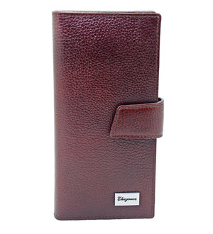 Eleegance Pure Leather Maroon Clutch