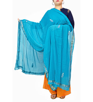 Gotta Patti Blue Color Chiffon Dupatta