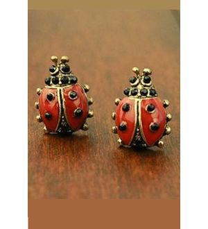 Lady Bird Alloy Drop Earrings