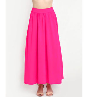 Reyon Cotton Magenta Heavy Skirt