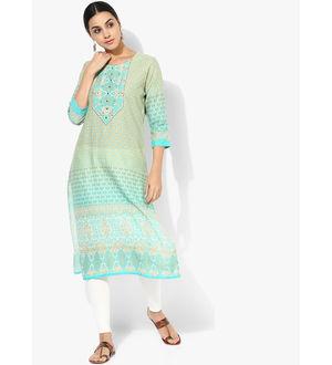 Shree Turquoise Embellished Kurta