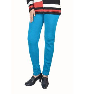 Artistic blue woolen Legging