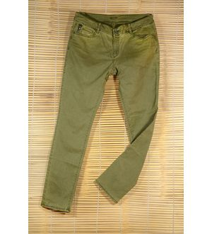 Solid Green strechable slim fit Jeans