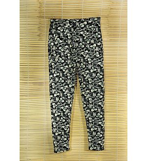 Black and White Printed Legging Jegging