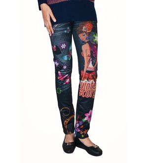 Stylish Black Barbie Print Legging