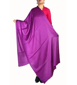 96 Grams Purple Cashmere Shawl