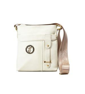 Elegance Off White Women Sling Bag