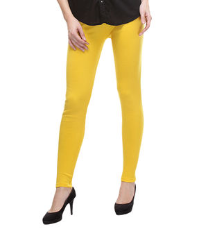 Woolen Yellow Color Legging