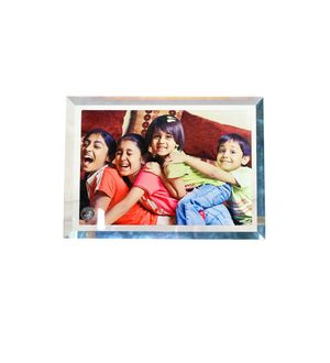 Crystal Glass Frame image size  4 x 6 inches