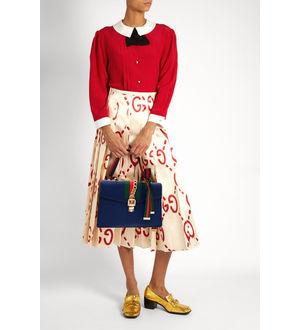Replica GUCCI Sylvie Blue Shoulder Bag