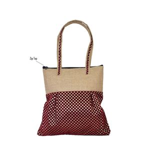 Girly Trendy Brown Jute Bag