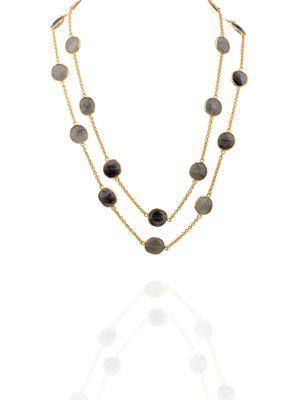 Gold Plated Rutilated Quartz Detachable Necklace