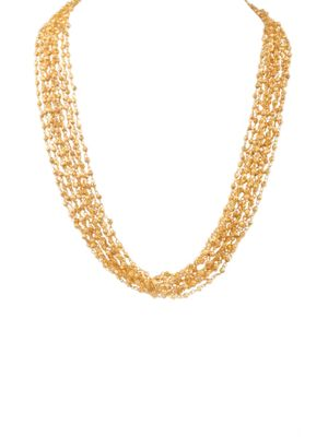 Gold Plated Multiple Strings Neklace
