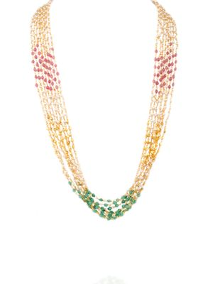 Multi Colored Multiple Strings Necklace