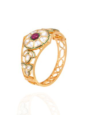 Gold Plated Ruby Vilandi Kada