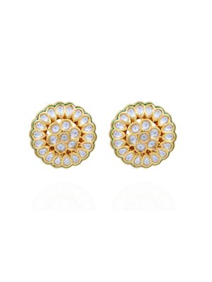 Gold Plated Kundan Stud Earrings