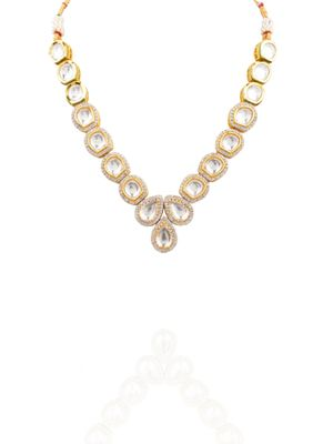 Gold Plated Uncut Kundan Necklace
