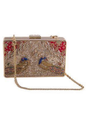 Double sided antique clutch