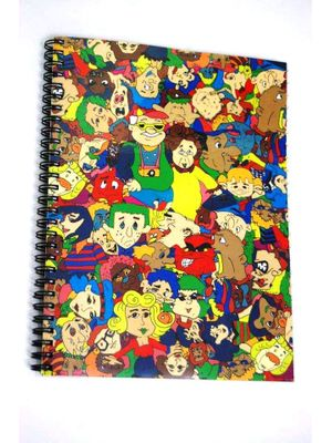 Cartoon A4 notebook