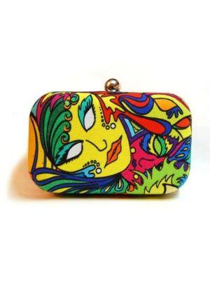 Eclectic clutch bag