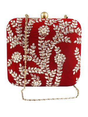 Mehroon clutch bag