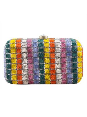 Bead rainbow clutch