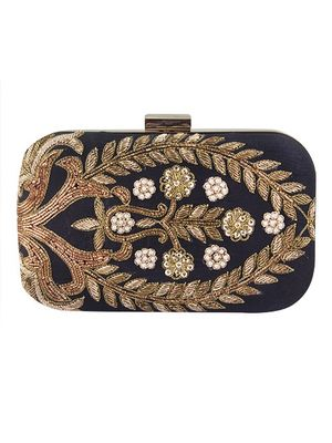 Black Zardosi clutch
