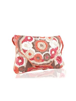 Ribbon flower sling bag