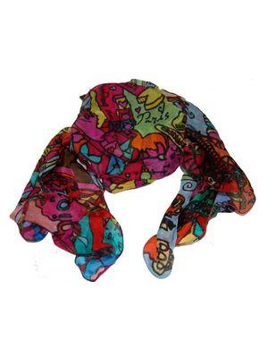 Paris print scarf